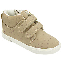 Buy John Lewis Children's Hattie Riptape Shoes, Beige Online at johnlewis.com