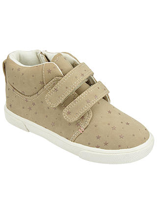 Buy John Lewis Children's Hattie Riptape Shoes, Beige, 7 Jnr Online at johnlewis.com