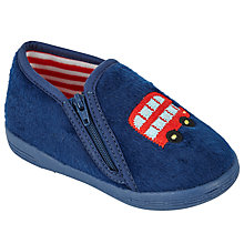 Buy John Lewis Baby Bus Slippers, Navy Online at johnlewis.com