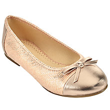 Buy John Lewis Children's Ballerina Toe Cap Snake Print Pumps, Rose Pink Online at johnlewis.com