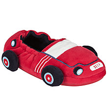Buy John Lewis Children's Racing Car Slippers, Red Online at johnlewis.com