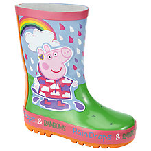 Buy Peppa Pig Children's Rainbow Wellington Boots, Pink/Multi Online at johnlewis.com