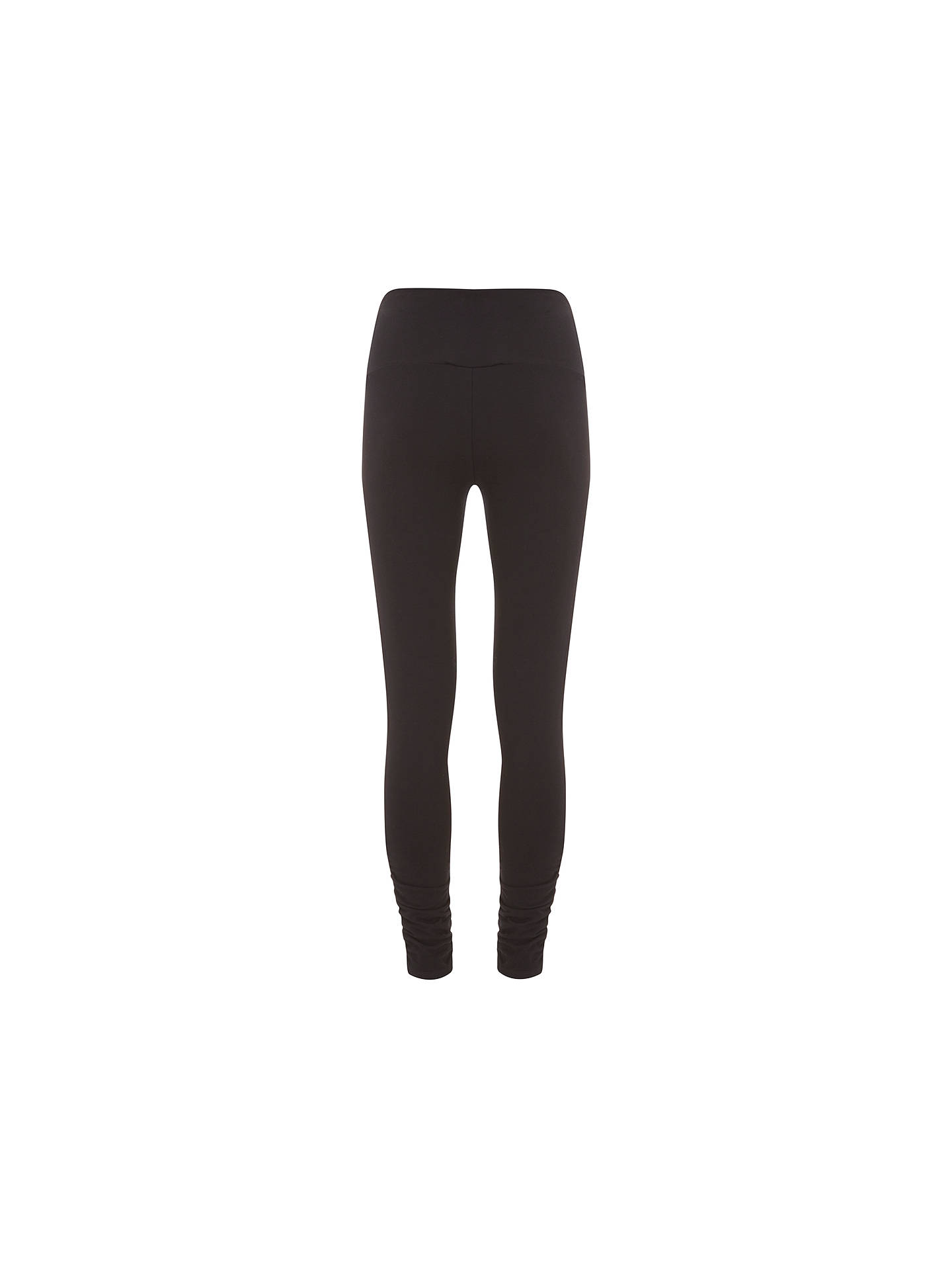 BuyMint Velvet Ankle Zip Leggings, Black, S Online at johnlewis.com