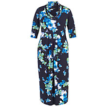 Buy Chesca Abstract Floral Print Dress, Cobalt Online at johnlewis.com