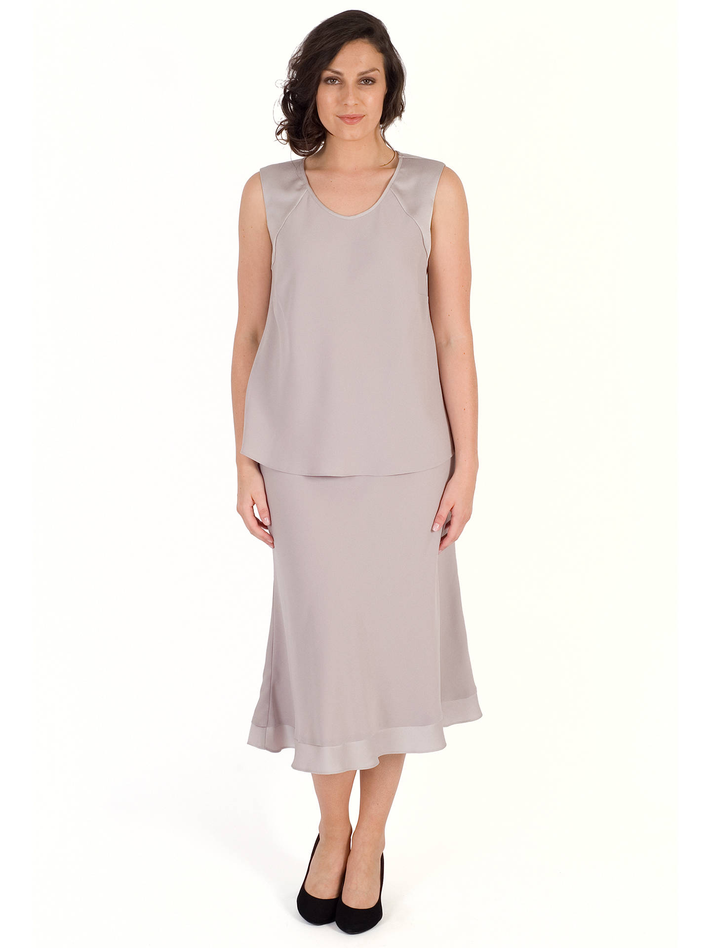 BuyChesca Satin Crepe Skirt, Mink, 12-14 Online at johnlewis.com