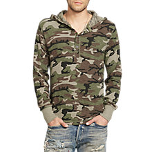 Buy Denim & Supply Ralph Lauren Henley Hoodie, Deep Forest Multi Online at johnlewis.com