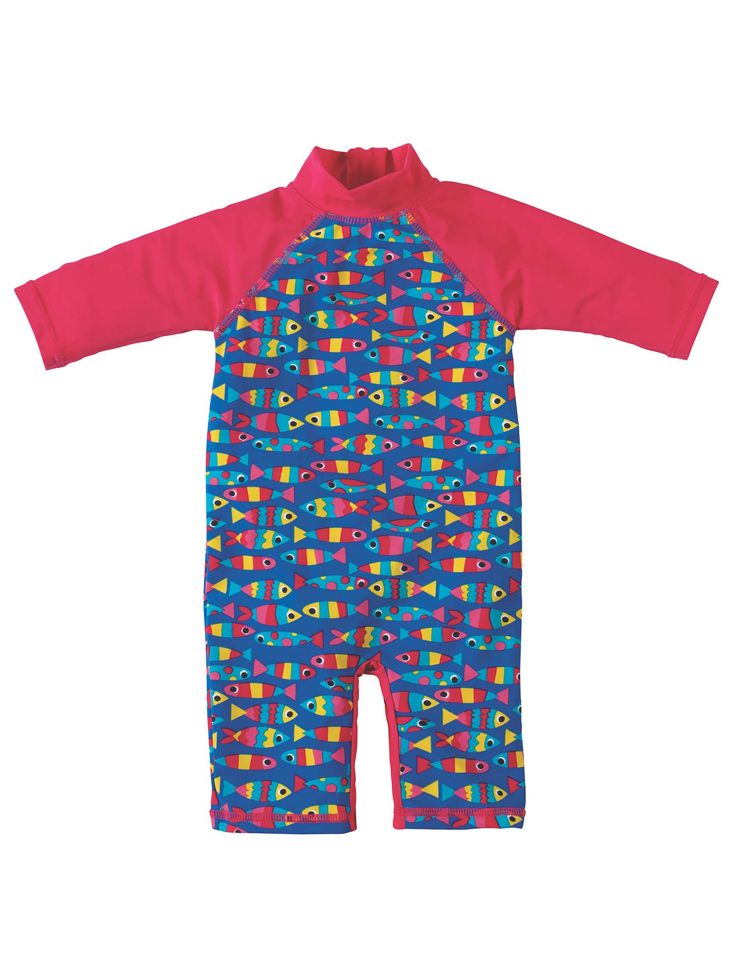 ddf87902a4be9 Buy Frugi Organic Baby Little Sun Safe Fish Sunpro Suit, Blue, 0-3 ...