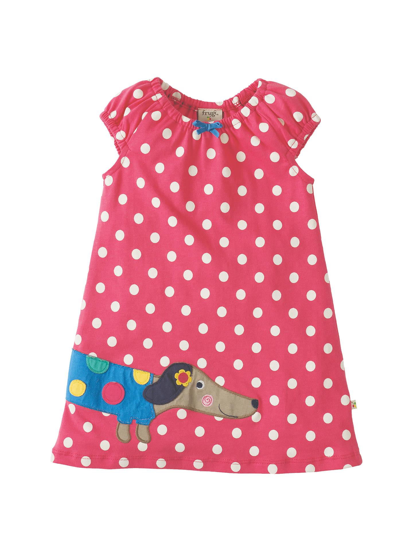 5bf9c7464 Frugi Organic Baby Lola Dog Polka Dot Jersey Dress