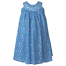 Buy Frugi Organic Girls' Tabitha Trapeze Ditsy Floral Dress, Blue Online at johnlewis.com