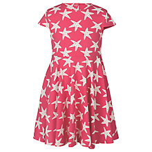 Buy Frugi Organic Girls' Spring Star Skater Dress, Pink Online at johnlewis.com