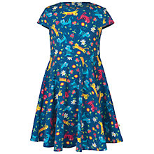 Buy Frugi Organic Girls' Spring Cat Skater Dress, Navy Online at johnlewis.com
