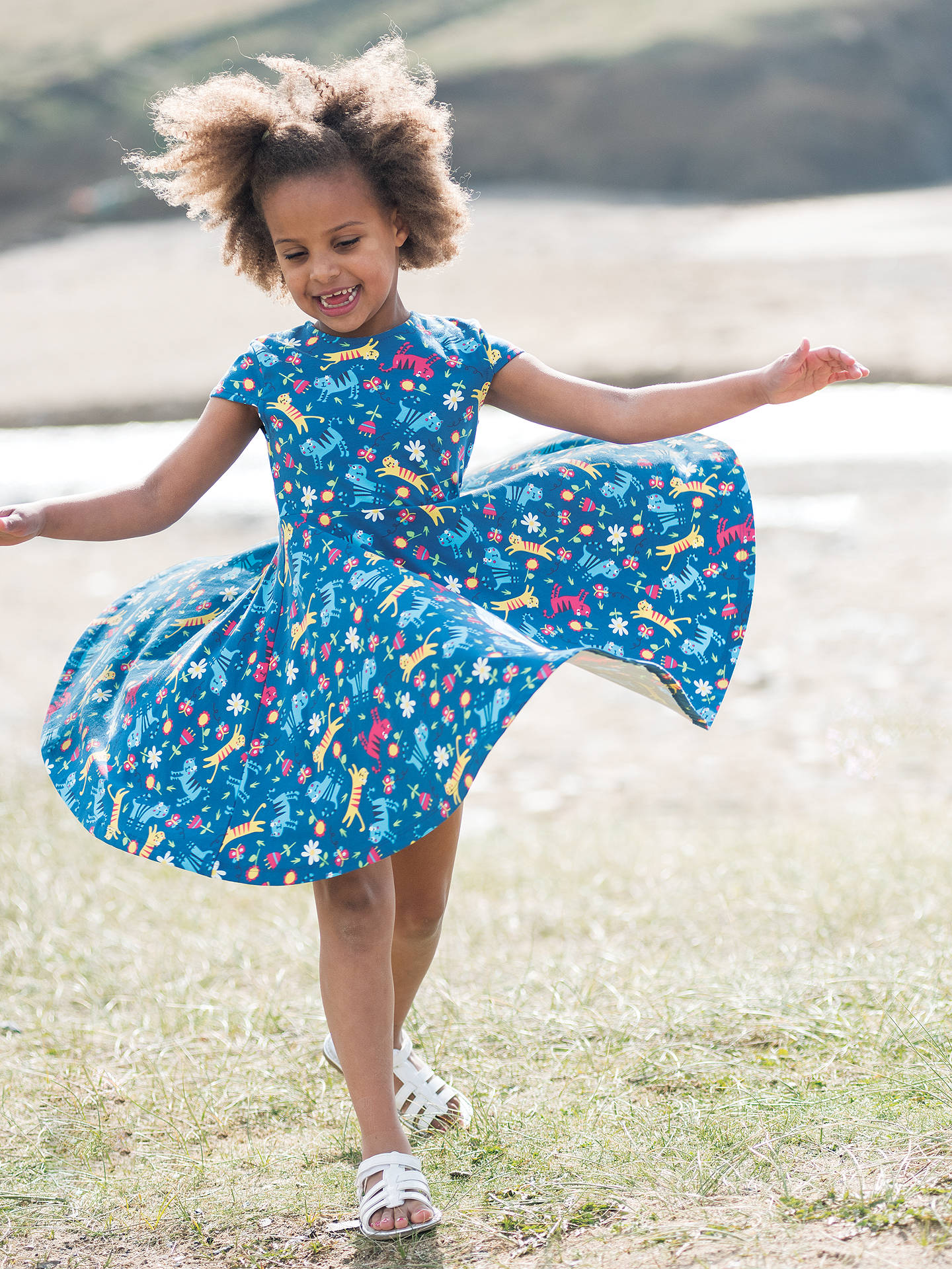 307385c15b ... BuyFrugi Organic Girls  Spring Cat Skater Dress