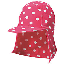 Buy Frugi Organic Baby Little Swim Spotted Hat, Pink Online at johnlewis.com