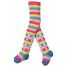Buy Frugi Organic Baby Little Norah Striped Tights, Multi Online at johnlewis.com
