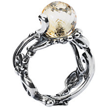 Buy Trollbeads Citrine Facet Ring, Pale Yellow Online at johnlewis.com