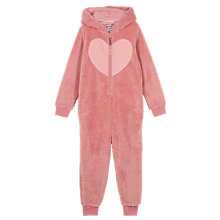 Buy Fat Face Children's Deer Onesie, Dusky Pink Online at johnlewis.com