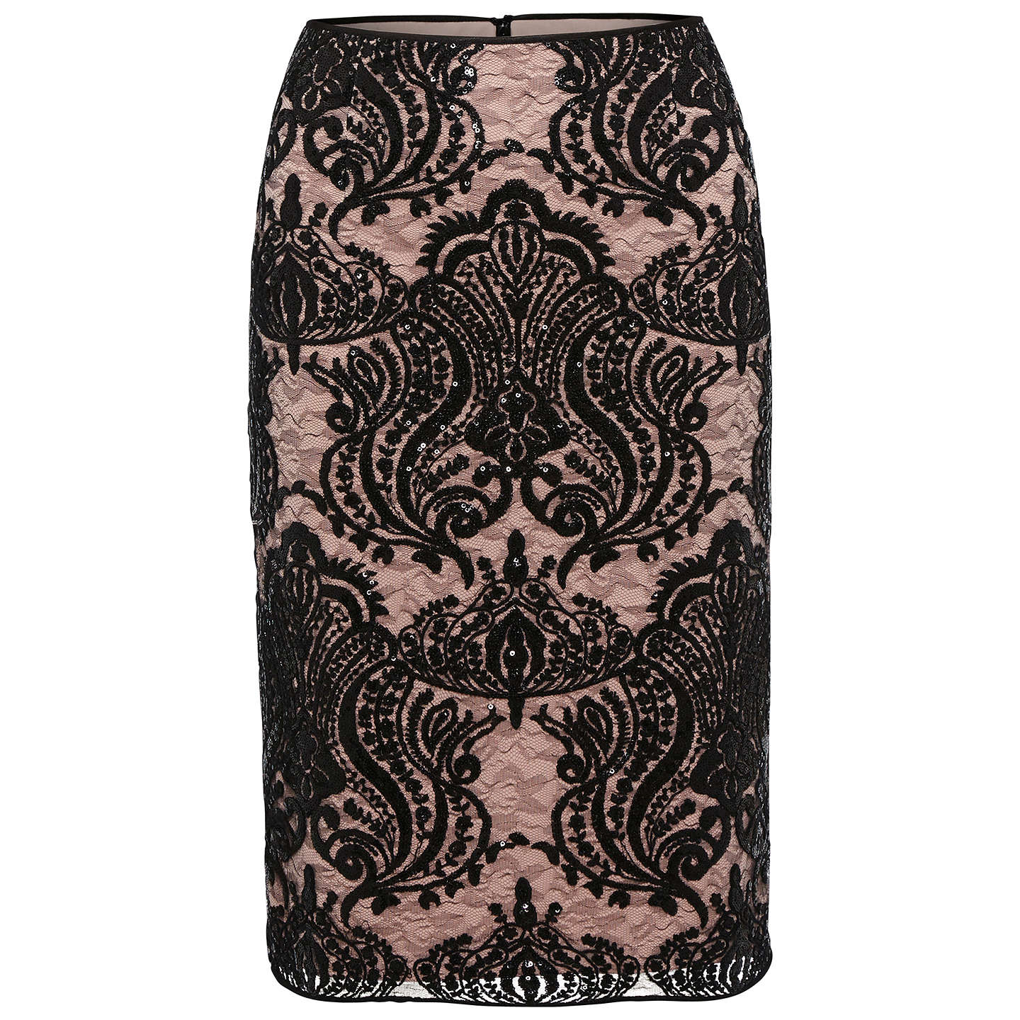 BuyGina Bacconi Baroque Sequin Skirt, Mellow, 8 Online at johnlewis.com