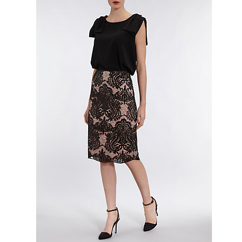 Buy Gina Bacconi Baroque Sequin Skirt, Mellow Online at johnlewis.com