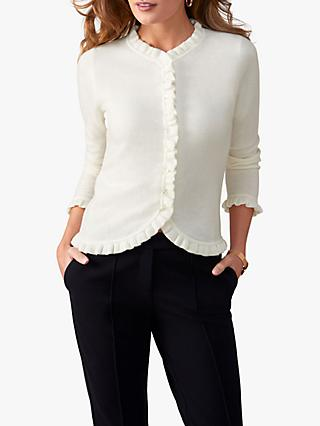 Pure Collection Fewston Ruffle Edge Cashmere Cardigan