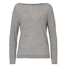 Buy Betty & Co. Fine Knit Top, Light Anthracite Melange Online at johnlewis.com
