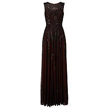 Buy Phase Eight Collection 8 Sybilla Embellished Dress, Chocolate Online at johnlewis.com