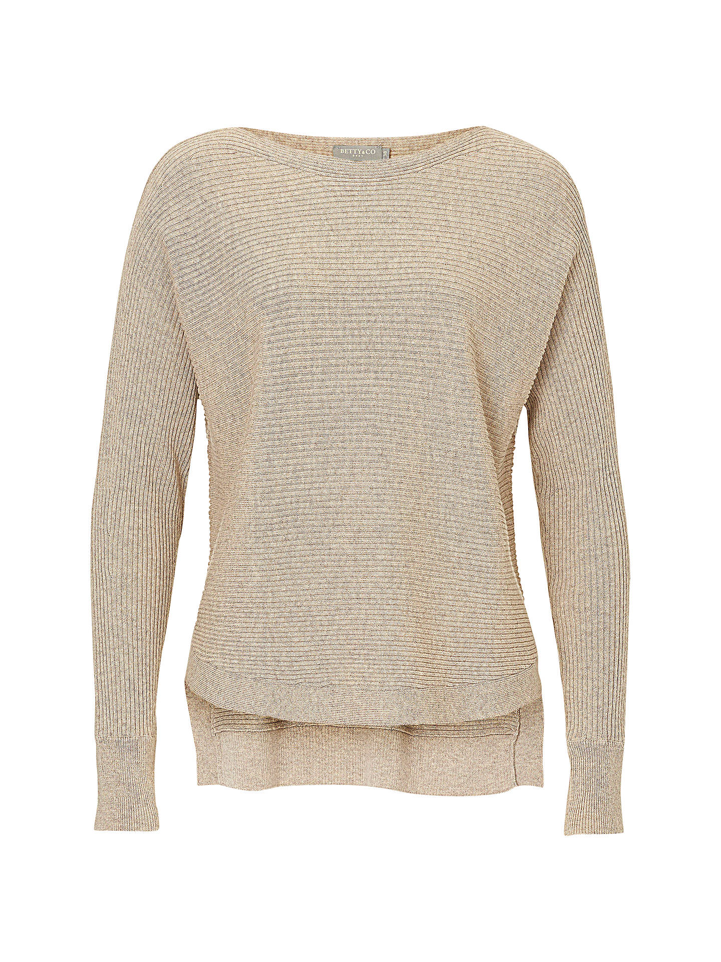 36c6a020b Betty & Co. Ribbed Knit Top, Pumice Stone at John Lewis & Partners
