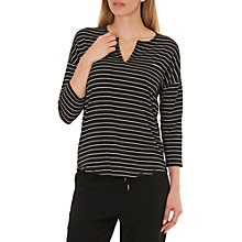 Buy Betty & Co. Striped Top, Black/Nature Online at johnlewis.com