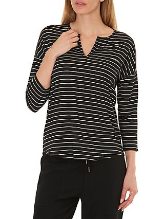 Betty & Co. Striped Top, Black/Nature