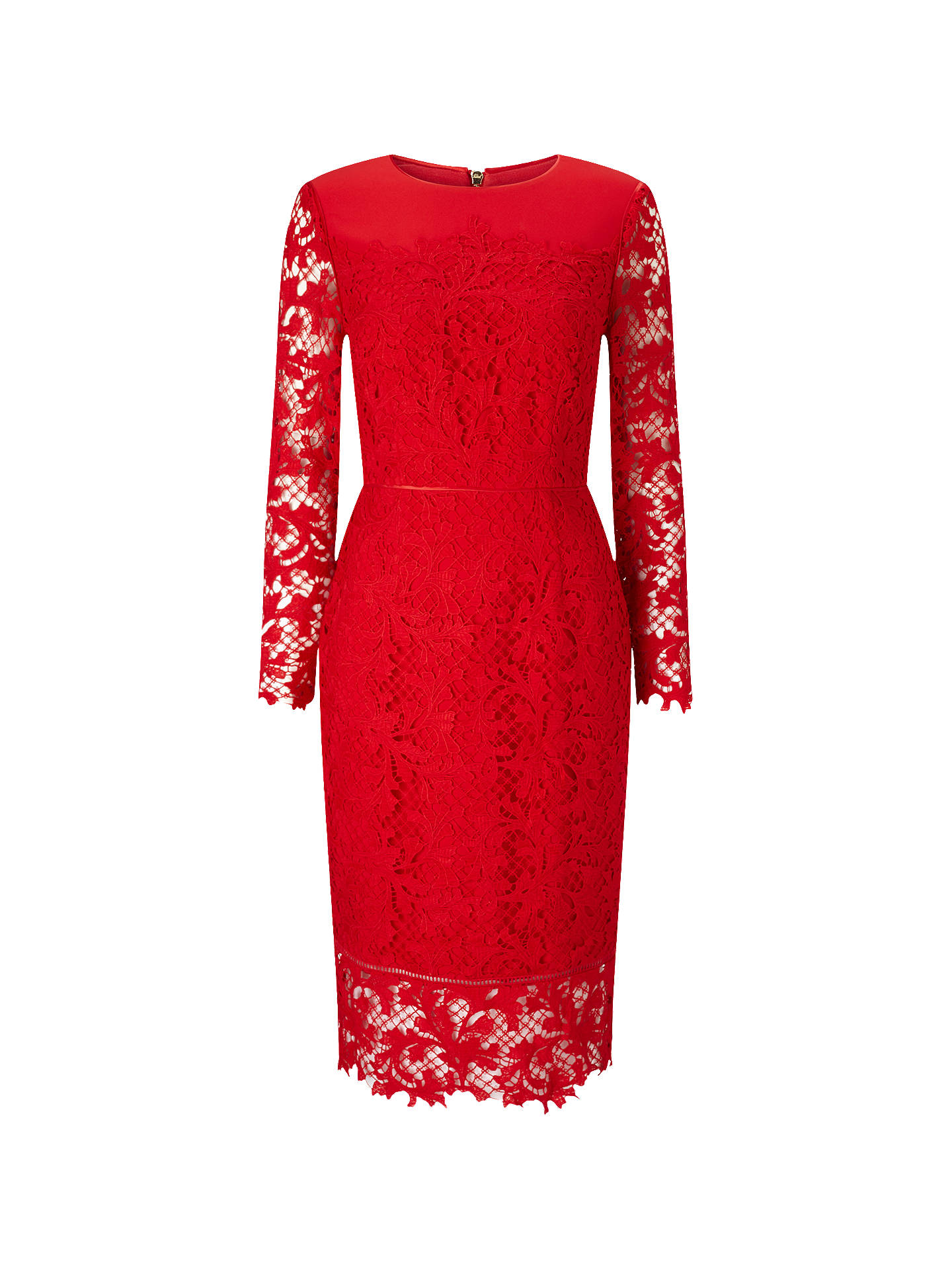 9ea0aa2903abd Phase Eight Amber Lace Dress, Claret at John Lewis & Partners