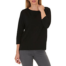 Buy Betty & Co. Ribbed Jersey Top, Black Online at johnlewis.com