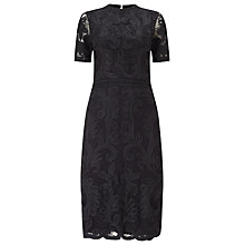 Buy Phase Eight Allandra Tapework Dress, Black Online at johnlewis.com