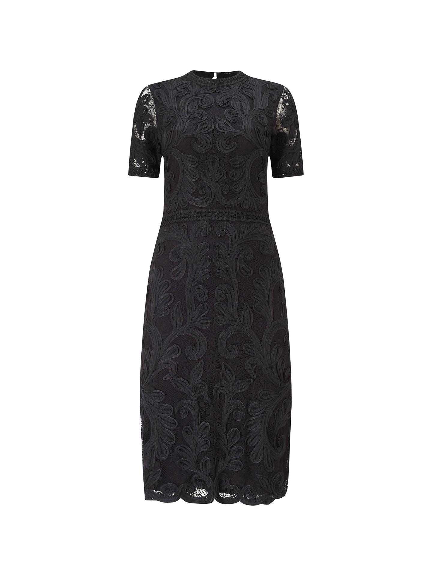 Phase Eight Allandra Tapework Dress, Black at John Lewis & Partners