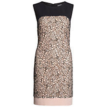 Buy Gina Bacconi Dainty Embroidered Lace Panel Dress, Pink/Black Online at johnlewis.com