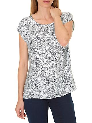 Betty & Co. Printed Top, Reed/Dark Blue