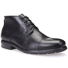 Buy Geox Dublin Leather Boots, Black Online at johnlewis.com