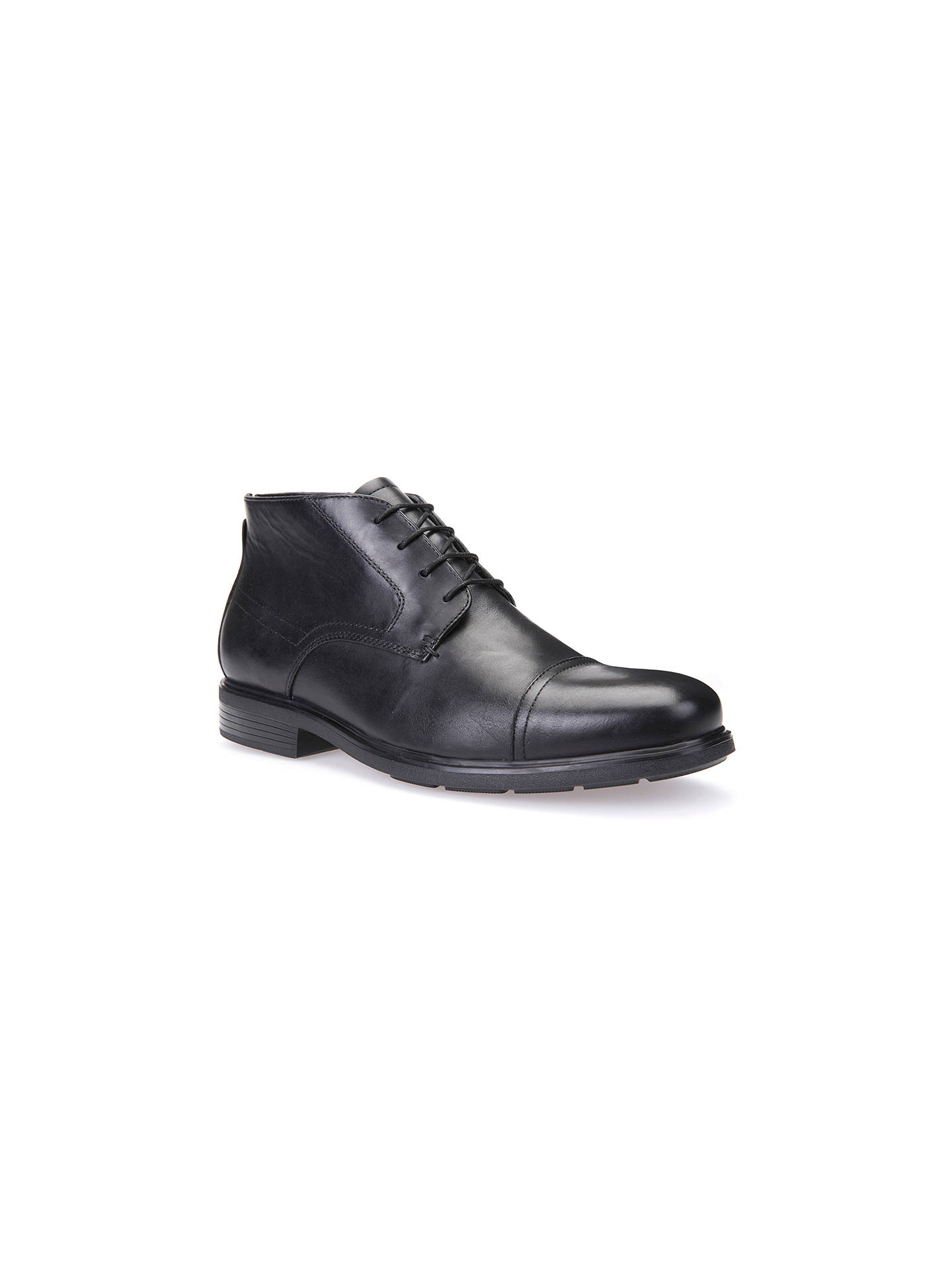 release date e037f 63ed2 Geox Dublin Leather Boots, Black at John Lewis & Partners