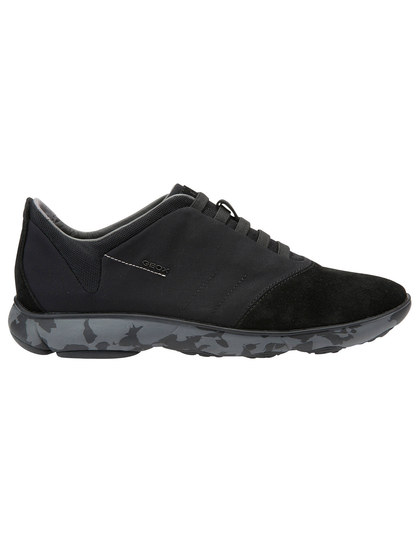 b35d16aef385a Buy Geox Nebula Trainers , Black, 7 Online at johnlewis.com ...