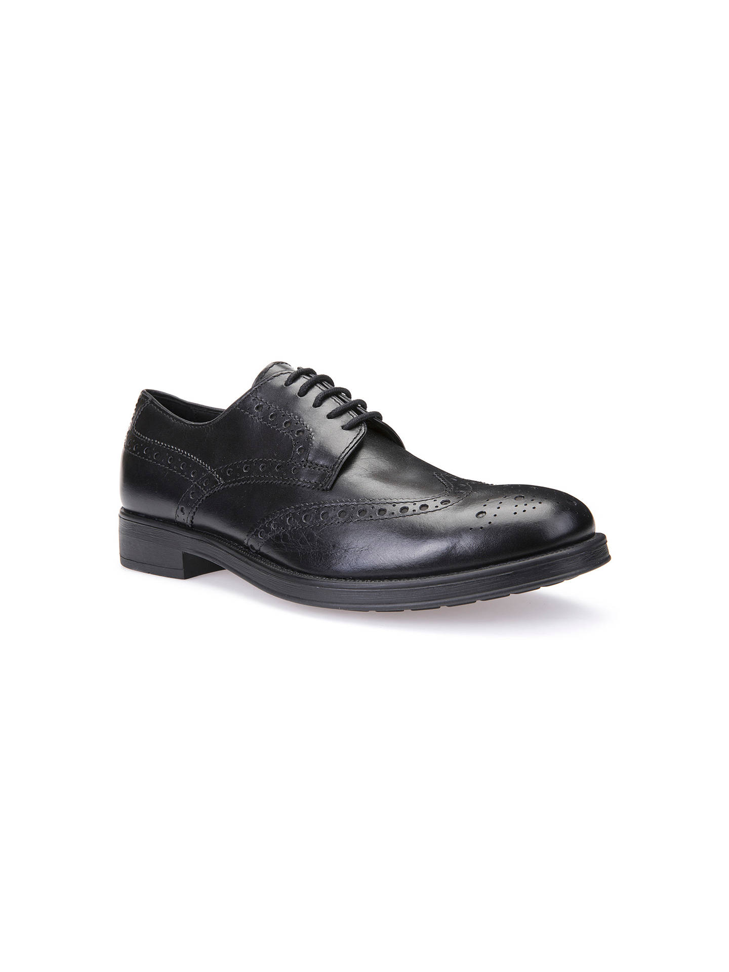 Geox Blade Brogue Boots, Black at John