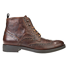 Buy Geox Blade Brogue Boots, Mud Online at johnlewis.com