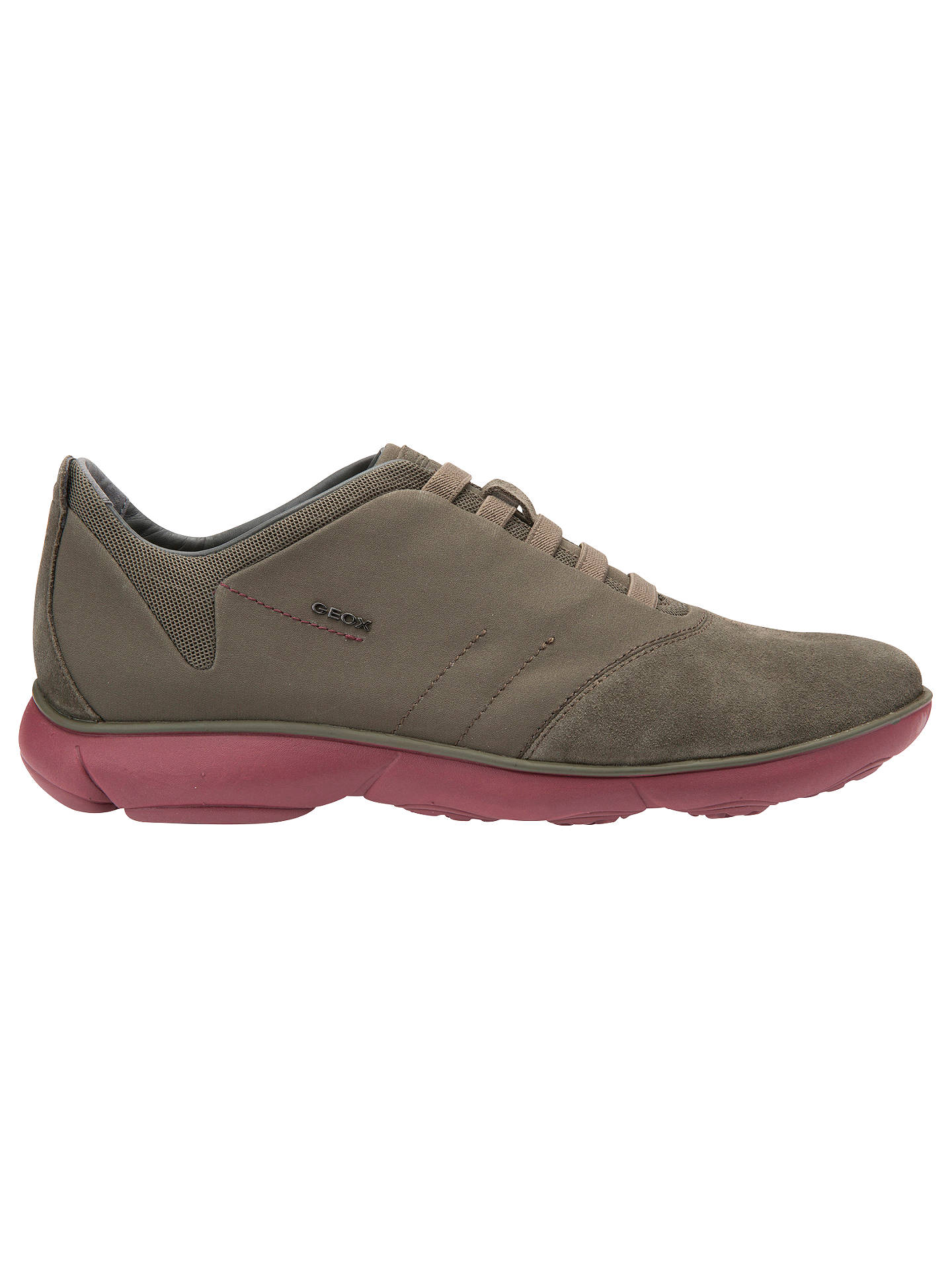 2afc77ae5a Buy Geox Nebula Trainers, Military/Dark Red, 7 Online at johnlewis.com ...