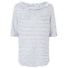 Buy John Lewis Cowl Linen Jersey Stripe Top Online at johnlewis.com