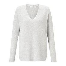 Buy John Lewis Cotton Rib Stitch V-Neck Jumper Online at johnlewis.com