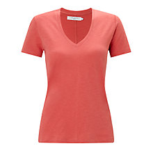 Buy John Lewis Cotton Slub V-Neck T-Shirt Online at johnlewis.com