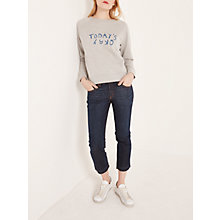 Buy AND/OR Canyon Beach Straight Cropped Jeans, Moody Blue Online at johnlewis.com