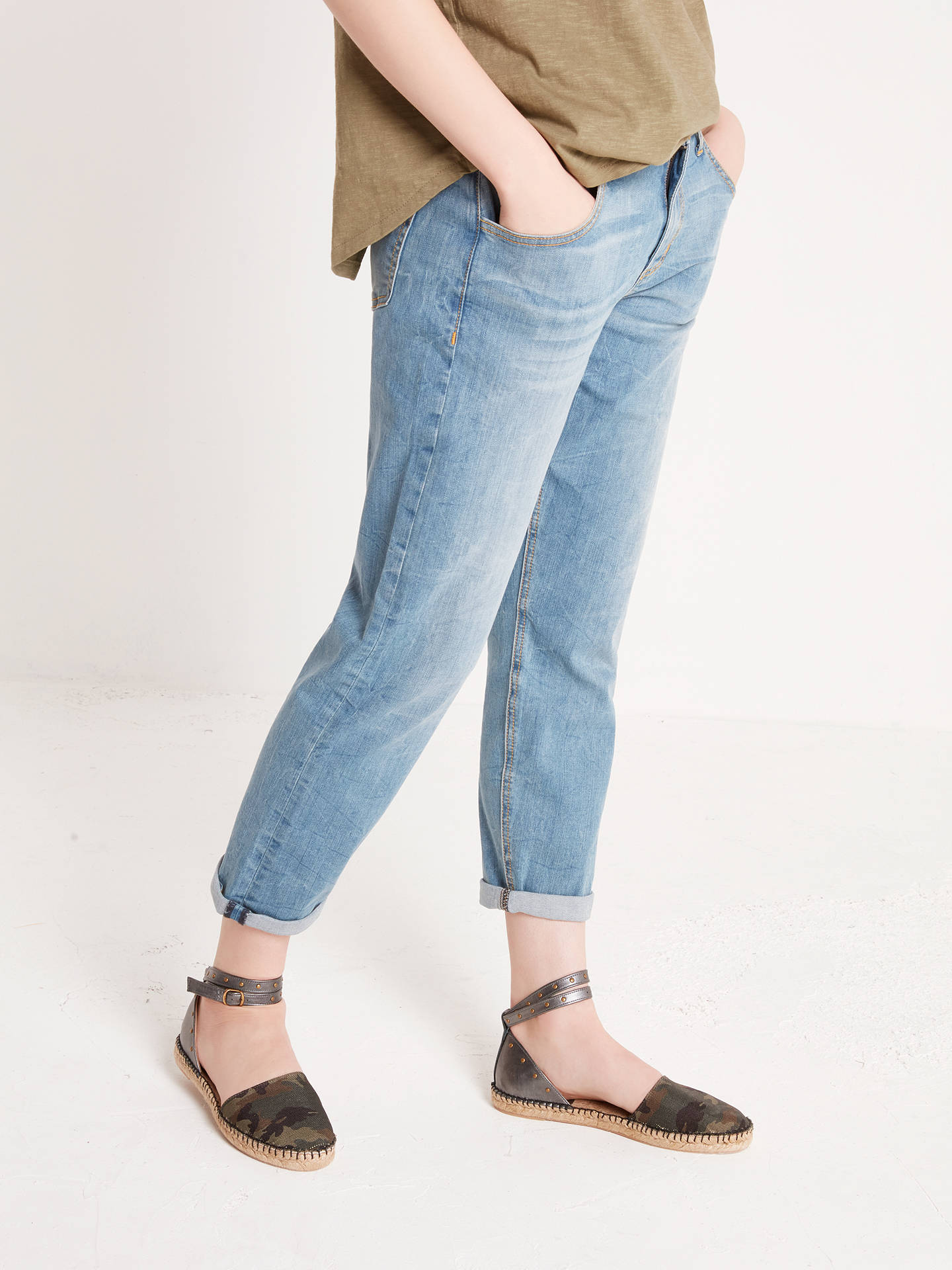 BuyAND/OR Venice Beach Boyfriend Jeans, Blue Heaven, 26 Online at johnlewis.com