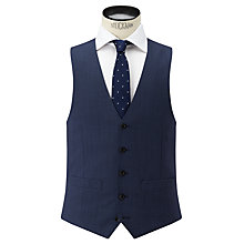 Buy John Lewis Super 100s Wool Birdseye Tailored Waistcoat, Airforce Online at johnlewis.com