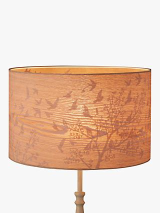 John Lewis & Partners Flock Birds Lampshade, Wood/Grey