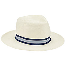 Buy John Lewis Herringbone Paper Ambassador Hat, White Online at johnlewis.com