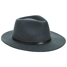 Buy JOHN LEWIS & Co. Wool Felt Fedora Hat, Green Online at johnlewis.com