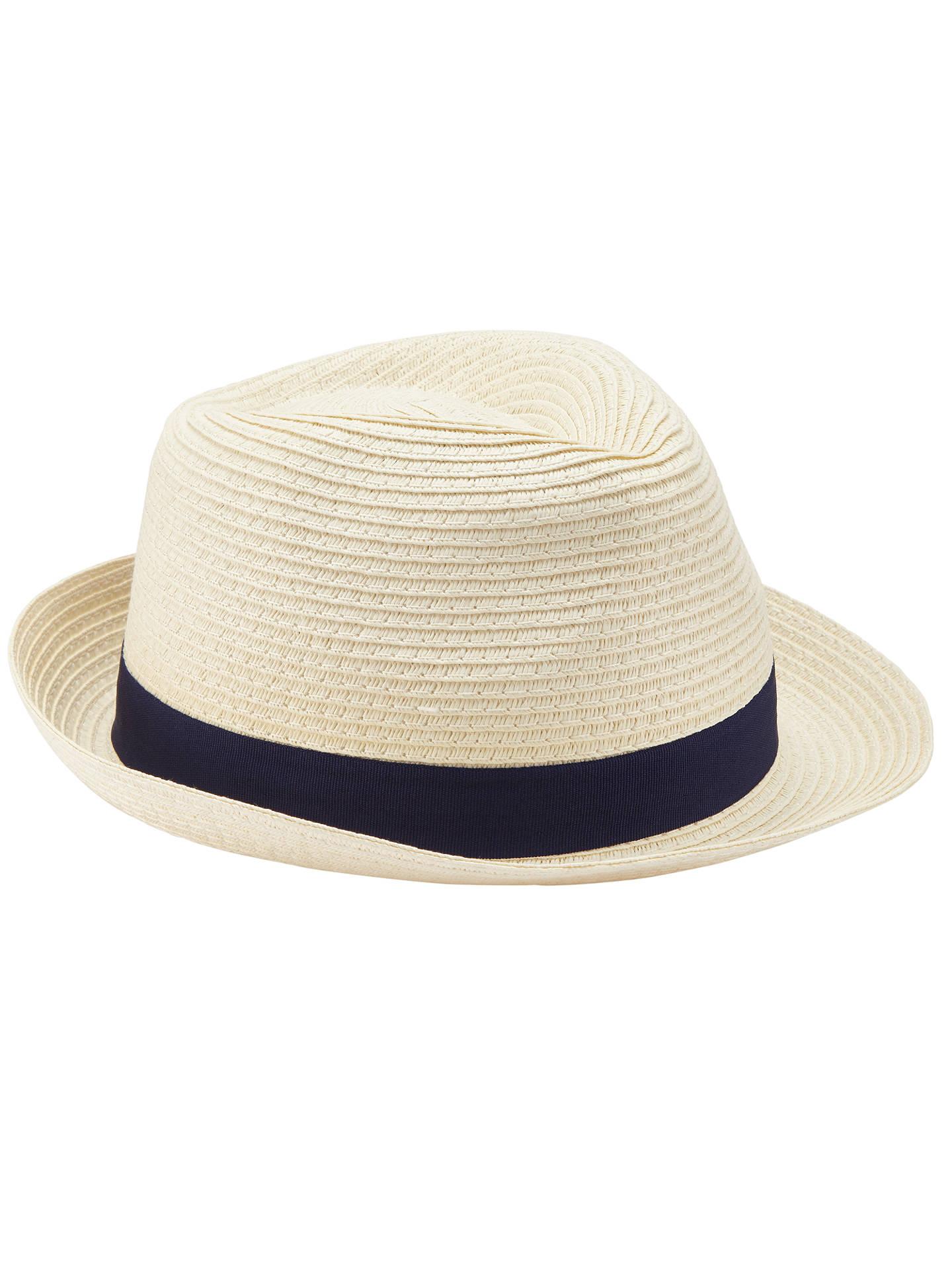 BuyJohn Lewis Packable Braid Trilby Hat d712902aaff9